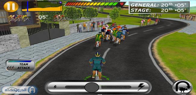 بازی فوق العاده مهیج و جدید مسابقات دوچرخه سواری Cycling Pro 2011 full v1.1