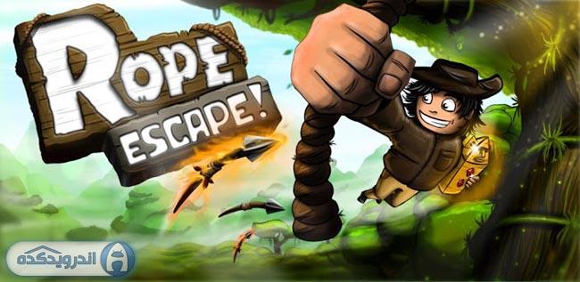 دانلود بازی فرار با طناب Rope Escape v1.18