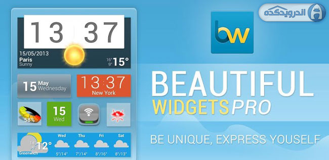 دانلود ویجت های زیبا نسخه حرفه ای Beautiful Widgets Pro v5.7.2 Final اندروید