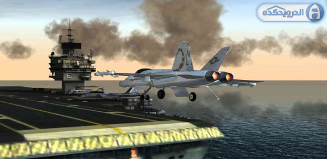 دانلود بازی شبیه ساز پرواز هواپیمای اف ۱۸ – F18 Pilot Flight Simulator v1.0 همراه دیتا