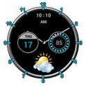 دانلود ویجت ساعت و آب وهوا Super Clock Widget v9.1.0