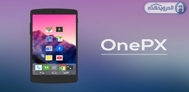 دانلود تم فوق العاده زیبای OnePX (GO APEX NOVA THEME) v1.0.6
