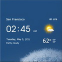 دانلود برنامه ساعت و آب و هوا شفاف Transparent clock & weather v0.99.91.05 اندروید