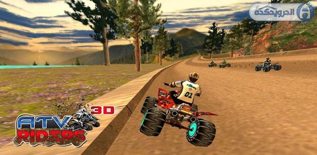 دانلود بازی مسابقات موتور ۴ چرخ ATV Riders 3D v1.0
