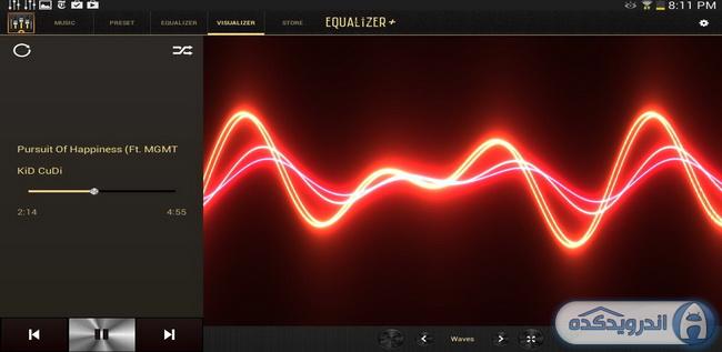 دانلود برنامه اکولایزر حرفه ای Equalizer + mp3 Player Volume Full v1.1.4 اندروید