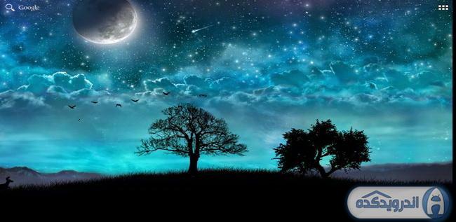 دانلود تصویر زمینه متحرک رویای شب Dream Night Pro Live Wallpaper v1.2.6 اندروید