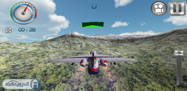 دانلود بازی شبیه ساز ۳ بعدی پرواز Flight Simulator 3D PRO v6.5.1.5 اندروید – همراه دیتا