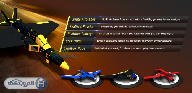 دانلود بازی هواپیمایی SimplePlanes v1.0.11 اندروید – همراه دیتا + تریلر
