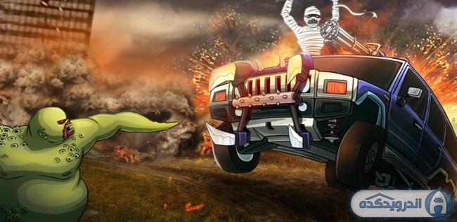 دانلود بازی مسابقه با ماشین های هیولا Monster Dash Hill Racer v1.8 اندروید + مود