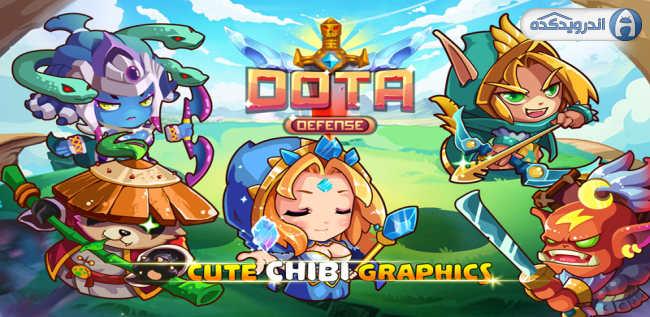 دانلود بازی رنگین کمان دفاع Heroes DotA Defense v2.0 اندروید – همراه نسخه مود + تریلر