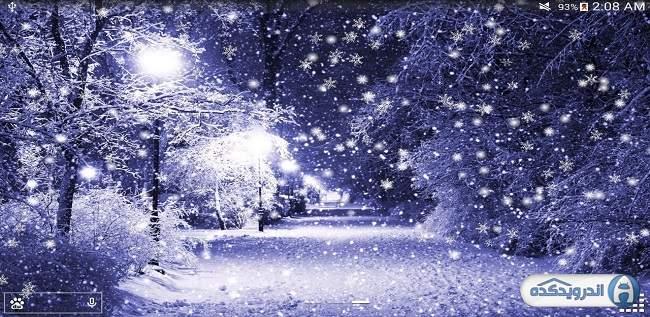 دانلود لایو والپیپر برف زمستان Winter Snow Live Wallpaper Pro v1.2.2 اندروید – همراه تریلر