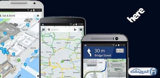 دانلود نرم افزار مسیریابی نوکیا Nokia HERE Maps v1.1.10014 اندروید + تریلر