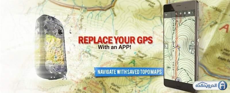 دانلود برنامه مسیریابی و ناوبری BackCountry Navigator TOPO GPS Pro