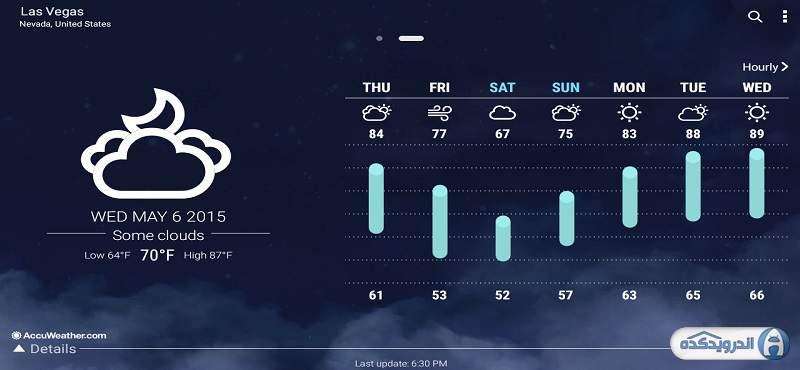 دانلود ASUS Weather برنامه هواشناسی ایسوس اندروید