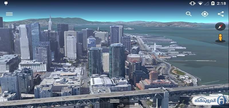 دانلود Google Earth برنامه گوگل ارث اندروید