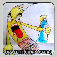 دانلود Graffiti Characters v1.1 نرم افزار نقاشی شخصیت های گرافیتی اندروید