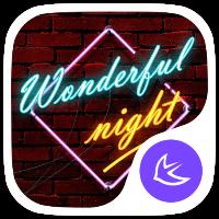دانلود Stylish Night theme for APUS v6022 تم های بسیار زیبا شن برای APUS اندروید