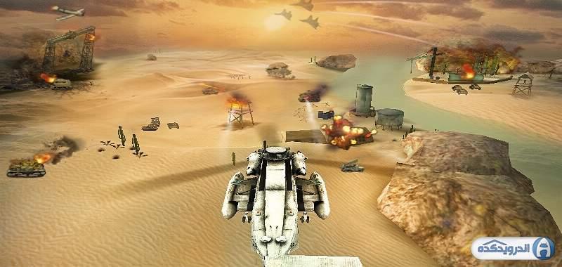 دانلود Gunship Strike 3D بازی نبرد هلیکوپتر ها اندروید
