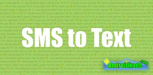 تبدیل sms ها به فایل متنی با ۱٫۸٫۱ sms to text