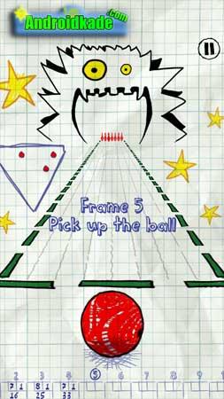 doodle bowling 1.4 بازی بولینگ کاغذی