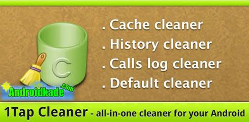 پاک کردن کش و تاریخچه نرم افزار ۱Tap Cleaner Pro v1.63