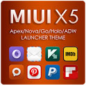 دانلود تم زیبای MIUI X5 HD Apex/Nova/ADW Theme v1.8.0