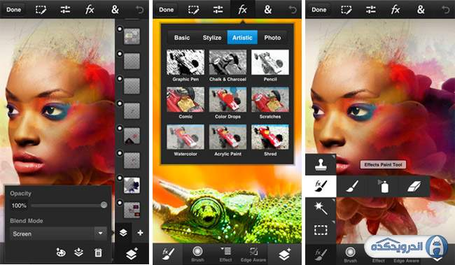 photoshop touch فتوشاپ موبایل