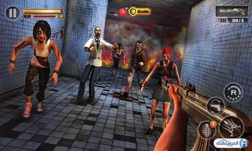 دانلود بازی نابودی زامبی ها Infected House Zombie Shooter v1.3 ...