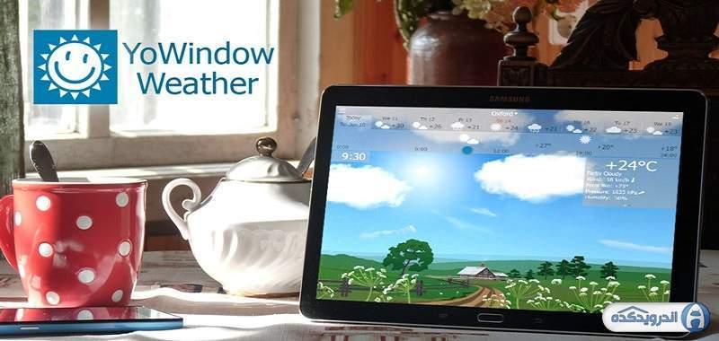 دانلود YoWindow Weather 2.27.1 برنامه پیش بینی وضعیت آب و هوا اندروید