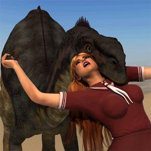 دانلود Dinosaur and Schoolgirl Puzzle بازی پازل دایناسور و دخترمدرسه اندروید