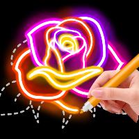 دانلود Draw Glow Flower V1.0.7 نرم افزار طراحی گل های درخشان اندروید