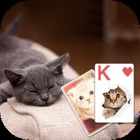 دانلود Solitaire Cute Cats Theme V2.4بازی  تم گربه برای کارت بازی اندروید