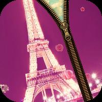 دانلود Paris Love Zipper Lock Screen v1.2 نرم افزار زیپ و قفل صفحه نمایش با تم پاریس اندروید
