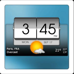 دانلود ۳D Flip Clock & World Weather v4.40.42 ویجت آب و هوا برای اندروید