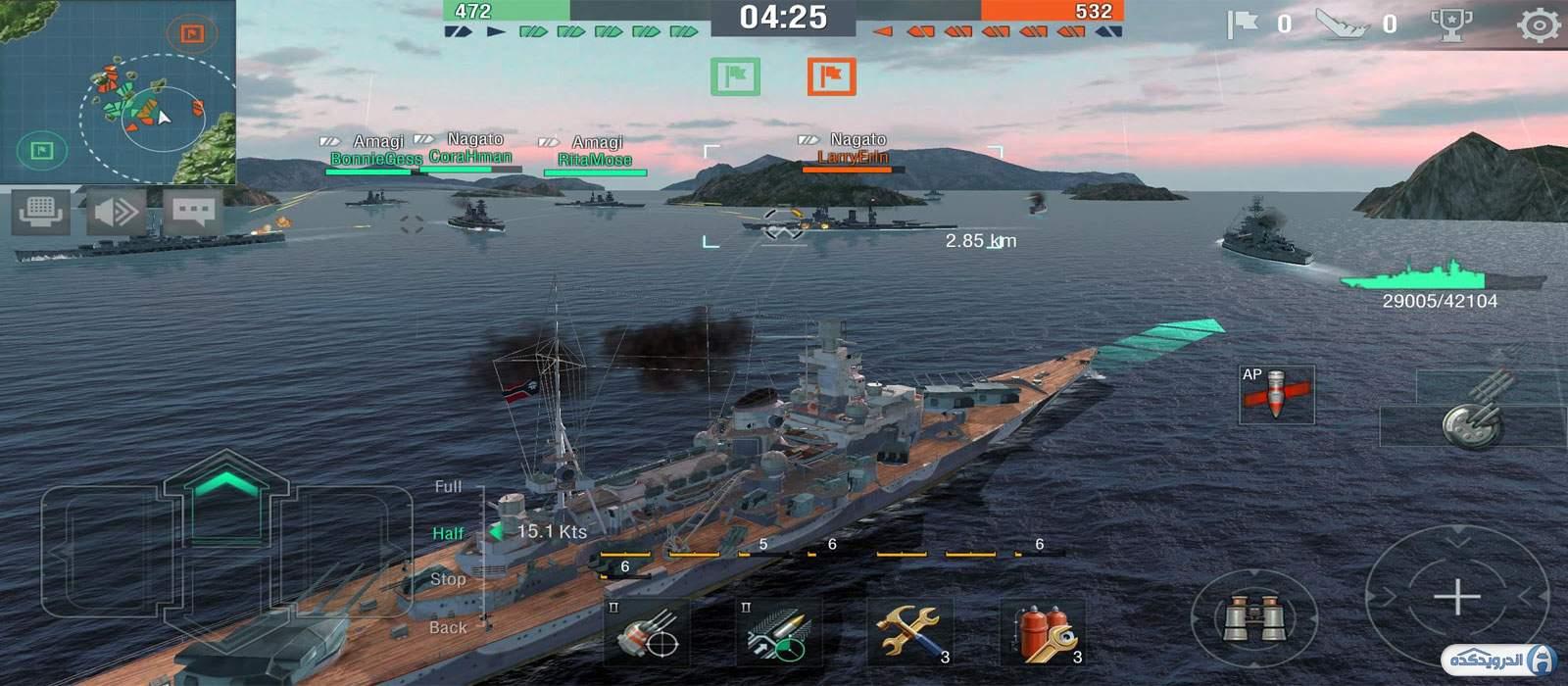 دانلود World of Warships Blitz 4.2.2 بازی حمله کشتی های جنگی اندروید