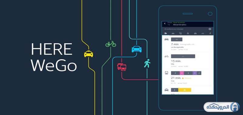 دانلود HERE WeGo - City Navigation برنامه مسیریابی نوکیا اندروید