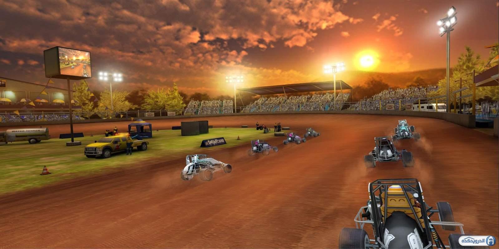 دانلود Dirt Trackin Sprint Cars 3.4.0 بازی ماشین های سرعتی کثیف اندروید + دیتا