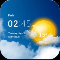 دانلود برنامه ساعت و آب و هوا شفاف Transparent clock & weather v1.05.12 اندروید