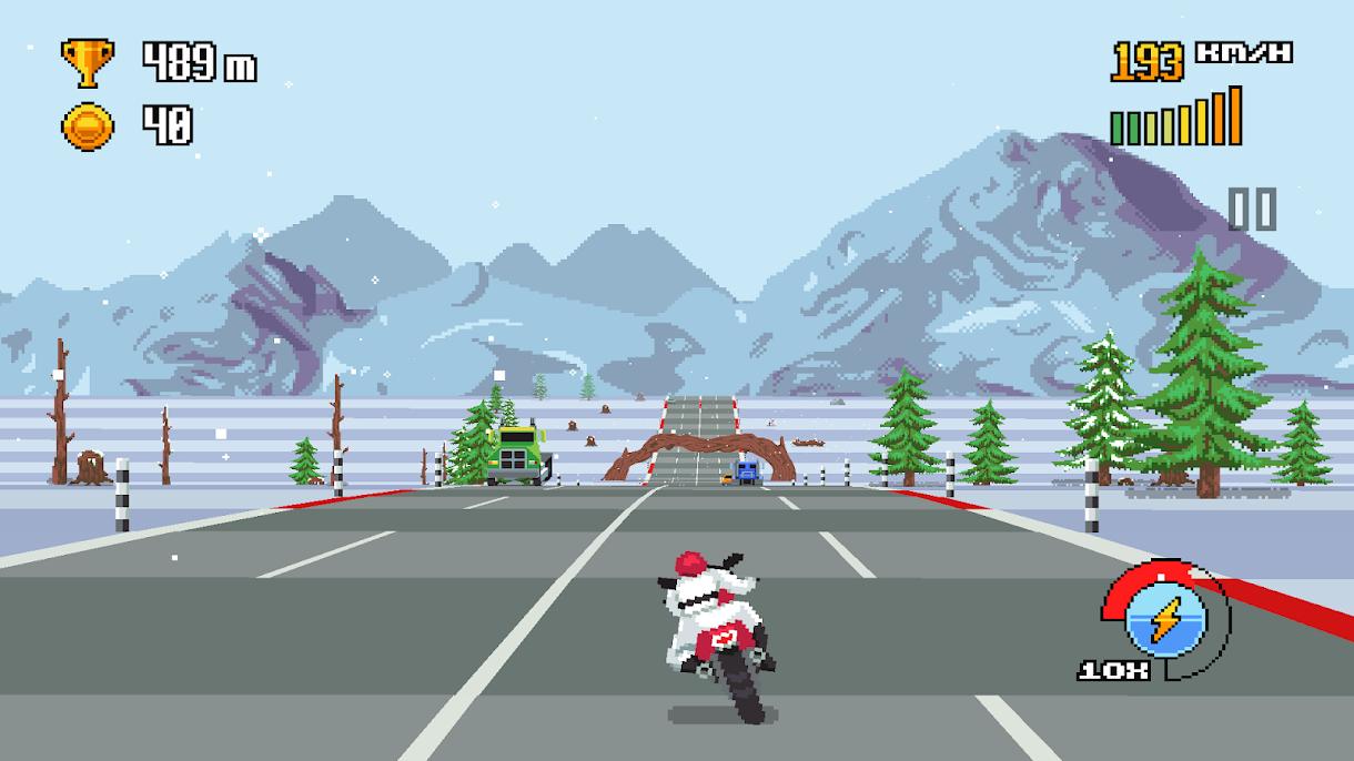 دانلود Retro Highway 1.0.40 - بازی موتور سواری در اتوبان اندروید