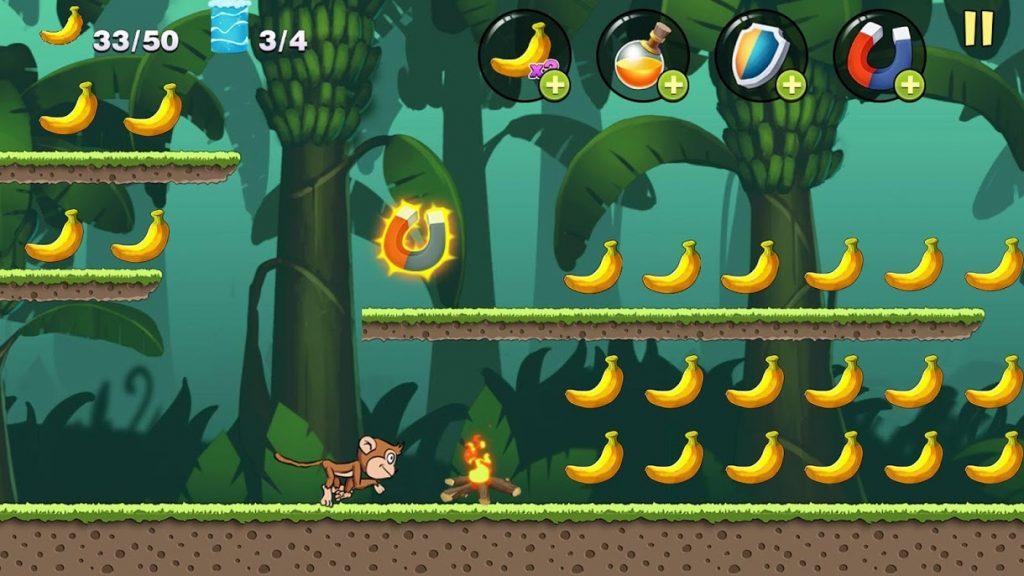 Banana Monkey Banana Jungle 3 1024x576 - دانلود Banana Monkey – Banana Jungle 1.1.2 – بازی جالب جنگل موز اندروید