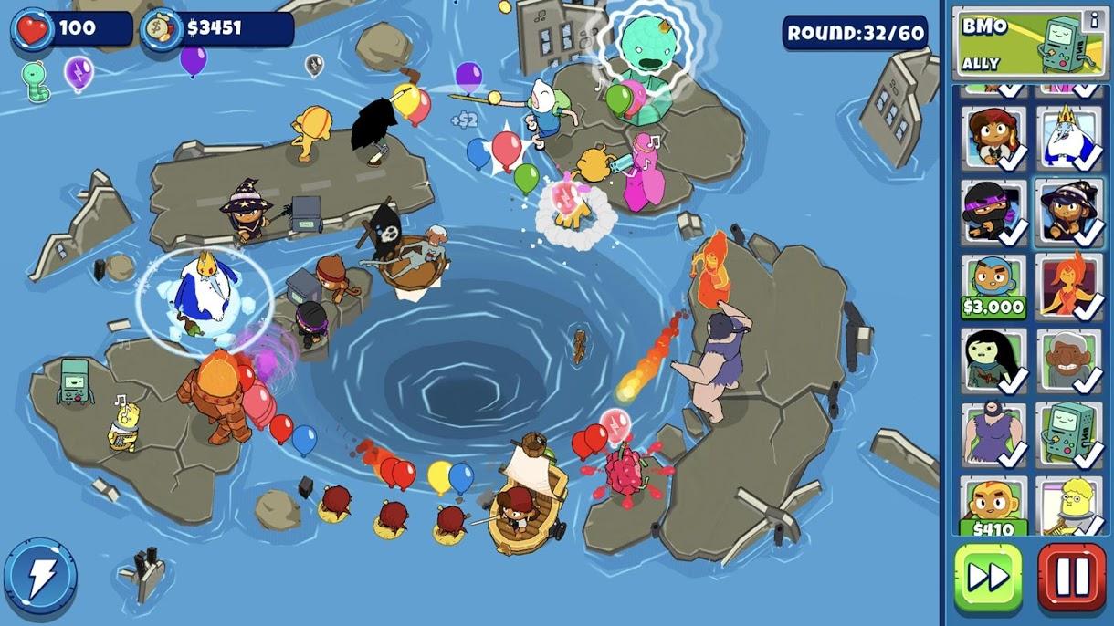 دانلود Bloons Adventure Time TD 1.7.3 - بازی زمان ماجراجویی اندروید