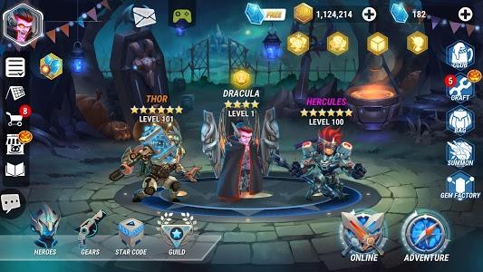 دانلود Heroes Infinity: God Warriors 1.34.06L - بازی قهرمانان ابدی اندروید