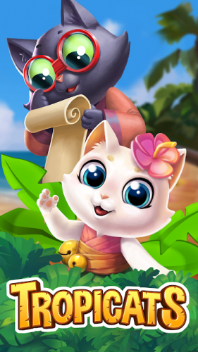 Tropicats : Free Match 3 on a Cats Tropical Island