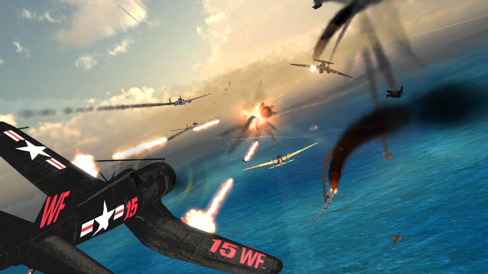 دانلود Air Combat Pilot: WW2 Pacific 1.16.007  بازی خلبان جنگ هوایی اندروید