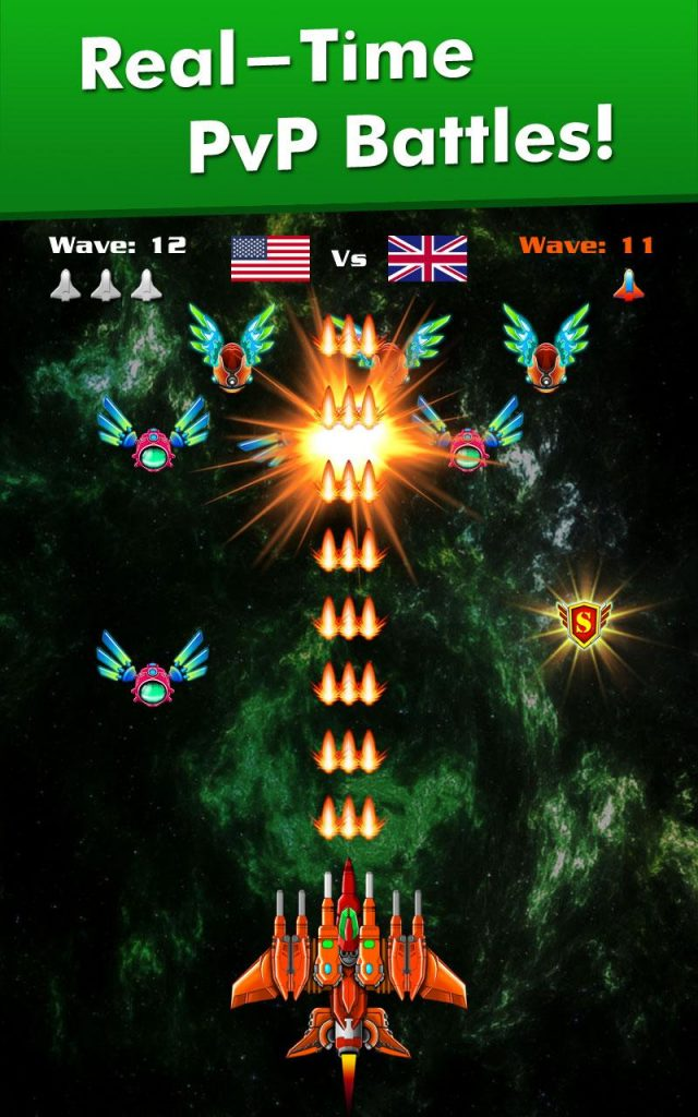 دانلود Galaxy Attack: Alien Shooter 32.3 - بازی آرکید نبرد کهکشان اندروید