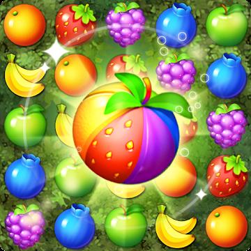 دانلود Fruits Forest : Rainbow Apple 1.6.0 – بازی پازلی جنگل میوه اندروید