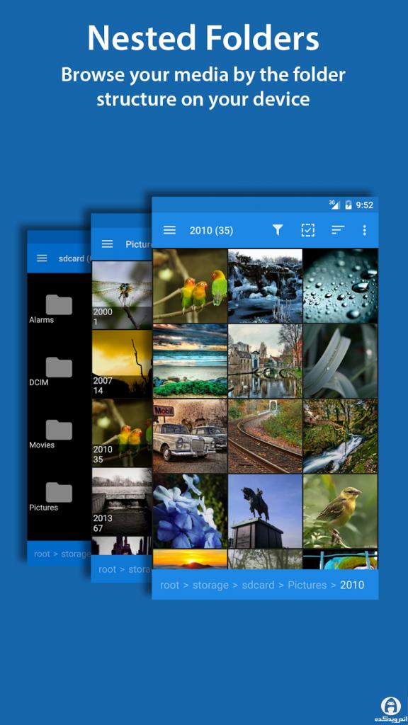 دانلود F-Stop Media Gallery PRO 5.3.17 - برنامه گالری فایلهای مدیا برای اندروید