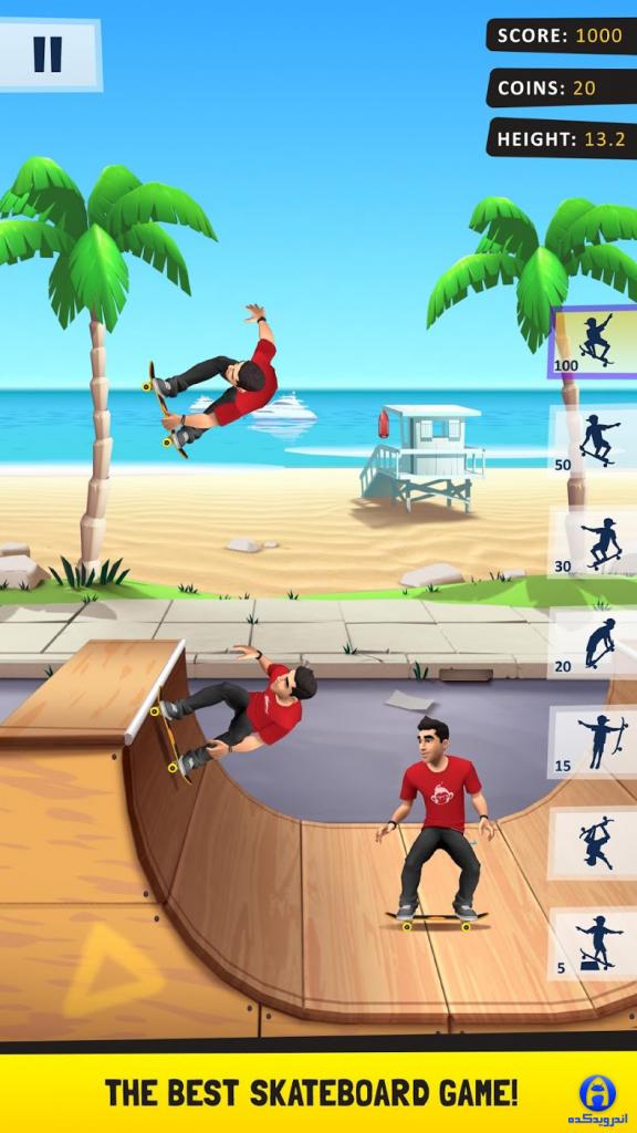 دانلود فلیپ اسکیتر Flip Skater 2.31 - بازی اسکیت سواری اندروید