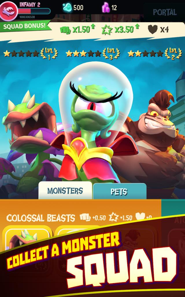 دانلود I Am Monster: Idle Destruction 1.5.8 - بازی من هیولا هستم اندروید