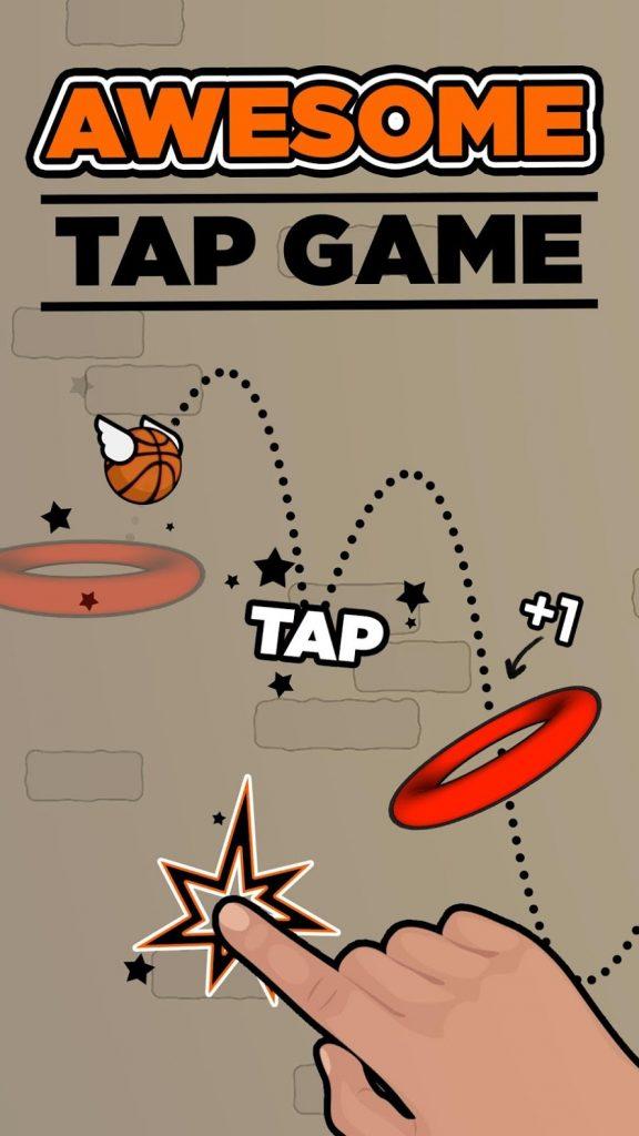 """دانلود Flappy Dunk 1.7.2 - بازی آرکید جالب و محبوب """"توپ بسکتبال پرنده"""" اندروید"""